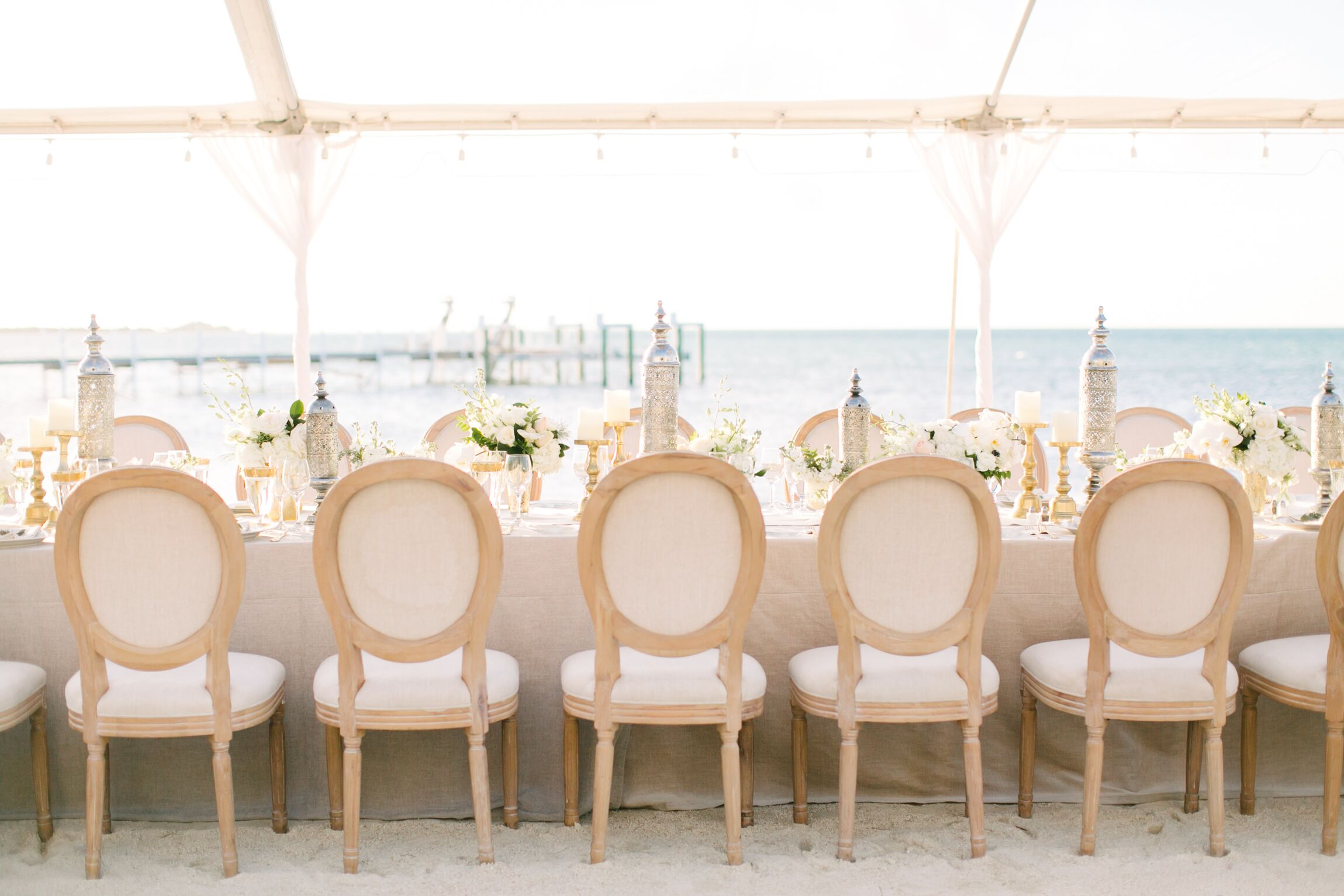 Reception Setup With King Louis Xvi Chairs