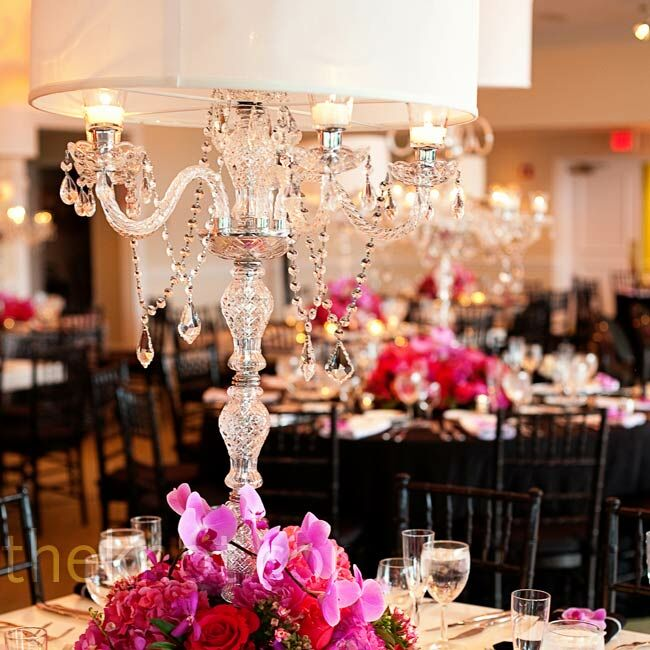 Lamp Shade Vase Centerpiece : Crystal candelabra centerpieces