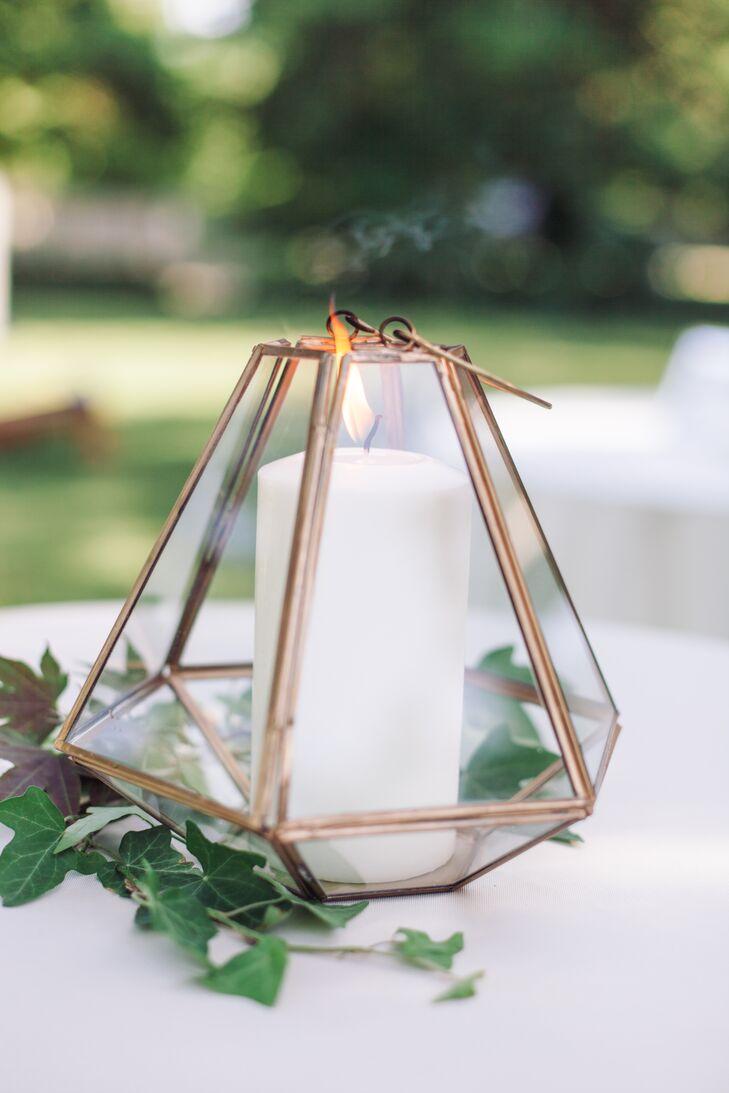Gold terrarium centerpieces