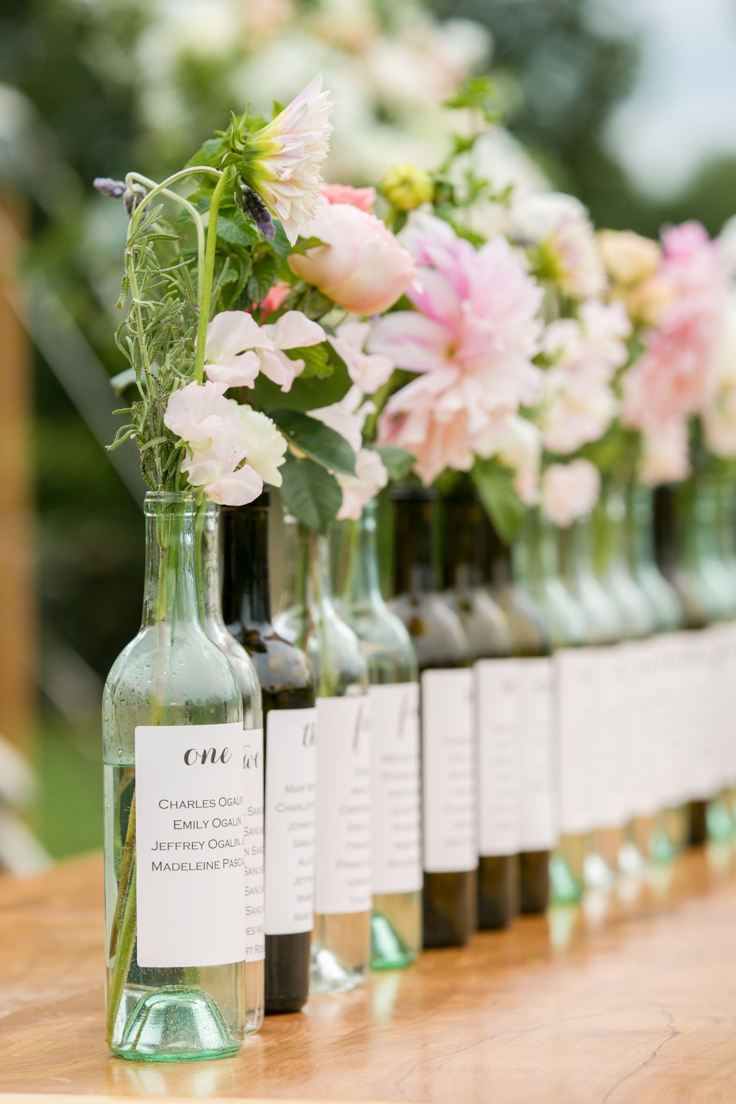 Wedding Table Wine Bottle Wedding Table Decorations wine bottle bud vase table assignments
