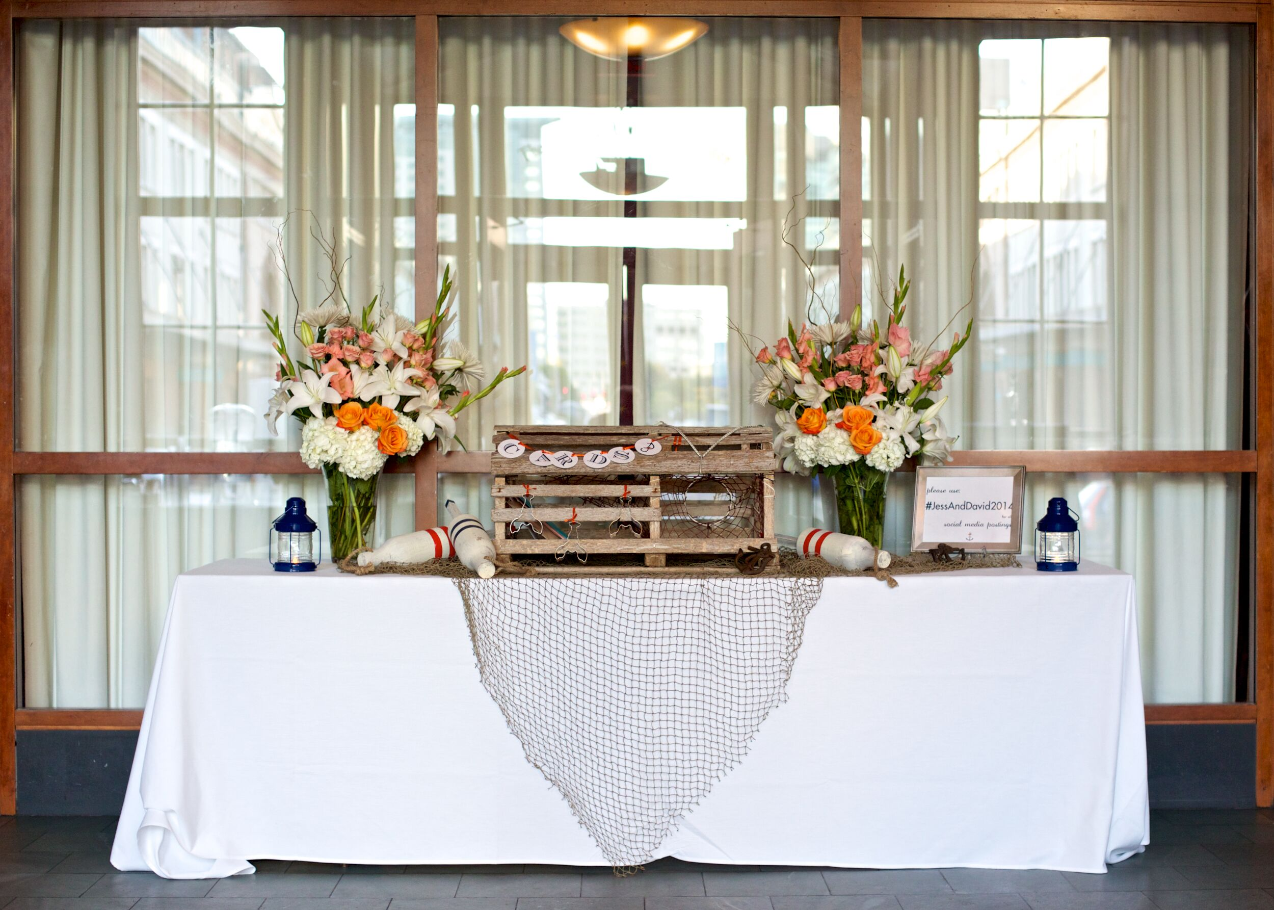 Nautical wedding decor with lobster trap card box - Trap decor ...