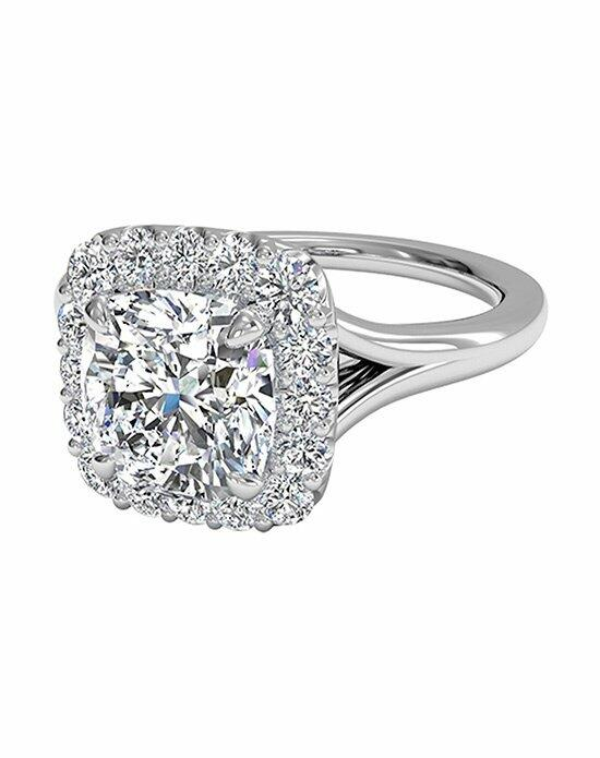 Ritani Cushion Cut French-Set Halo Diamond Engagement Ring in 18kt White Gold (0.20 CTW) Engagement Ring photo