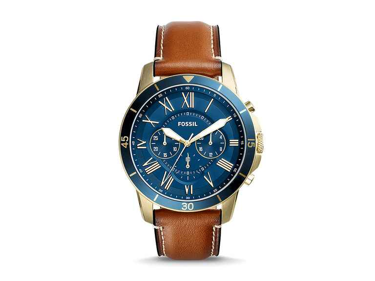 Fossil leather watch 5 year anniversaty gift for him