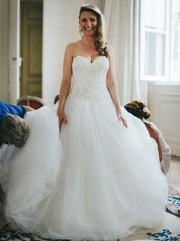 Justin Alexander Princess Style Wedding Ball Gown