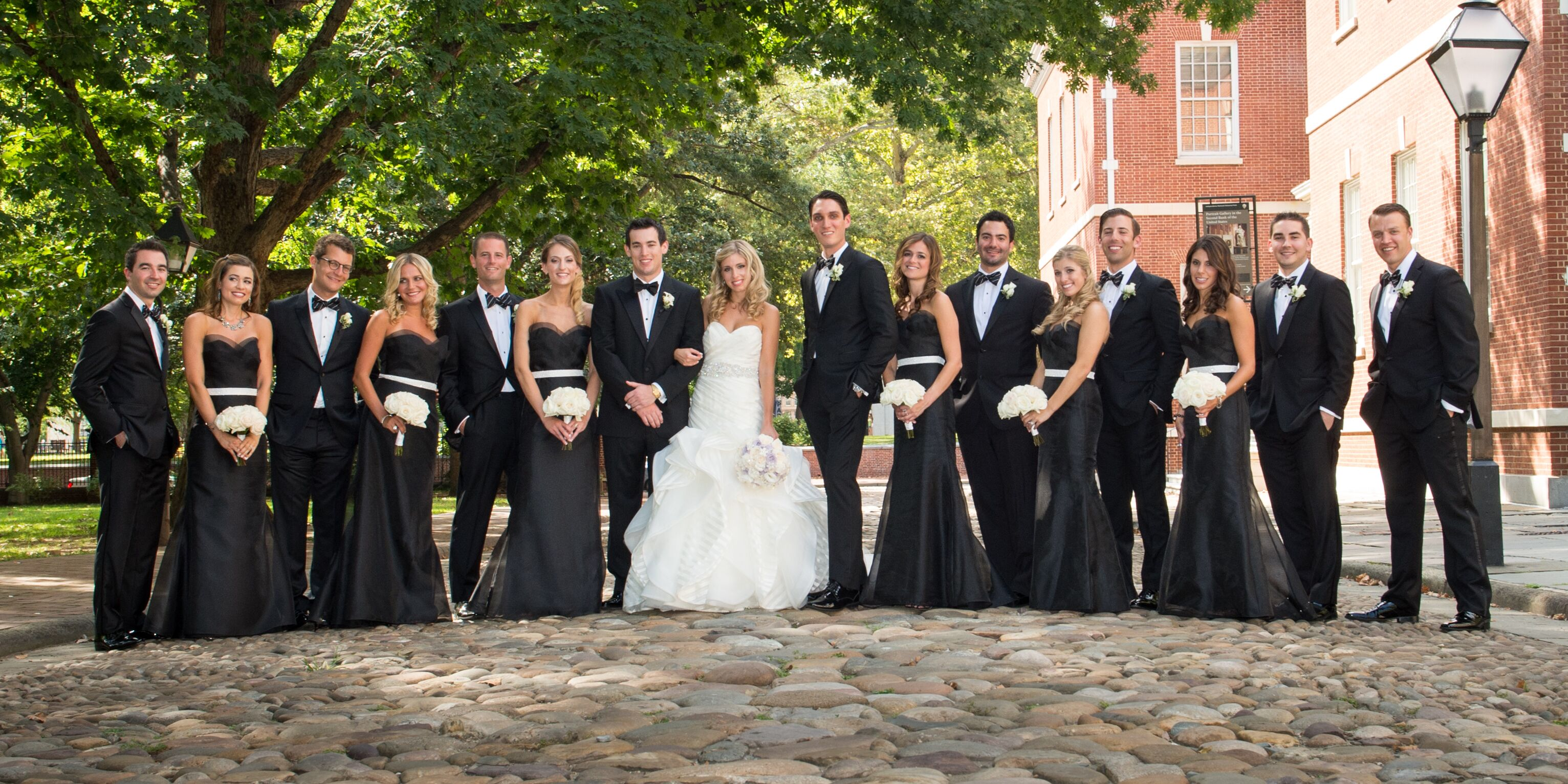 Elegant Black-and-White Wedding Party