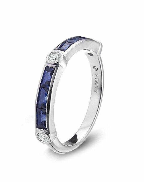 Platinum Must Haves Gumuchian Platinum, Diamond and Sapphire Empire Band. Wedding Ring photo