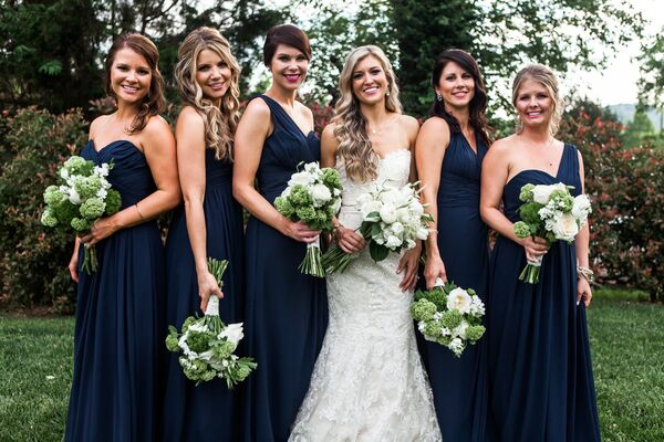 Rustic Wedding Navy Bridemaid Dresses