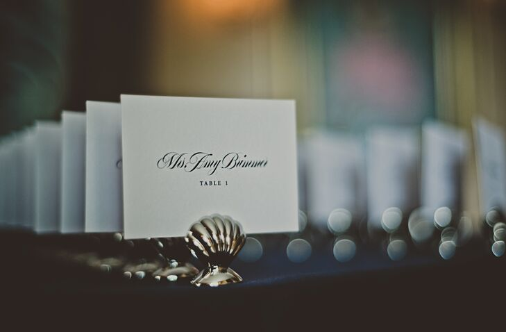 Simple Black and White Place Cards