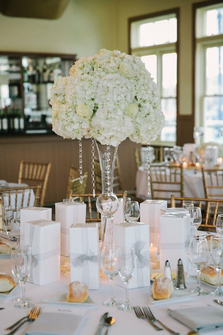 Tall White Hydrangea Centerpieces