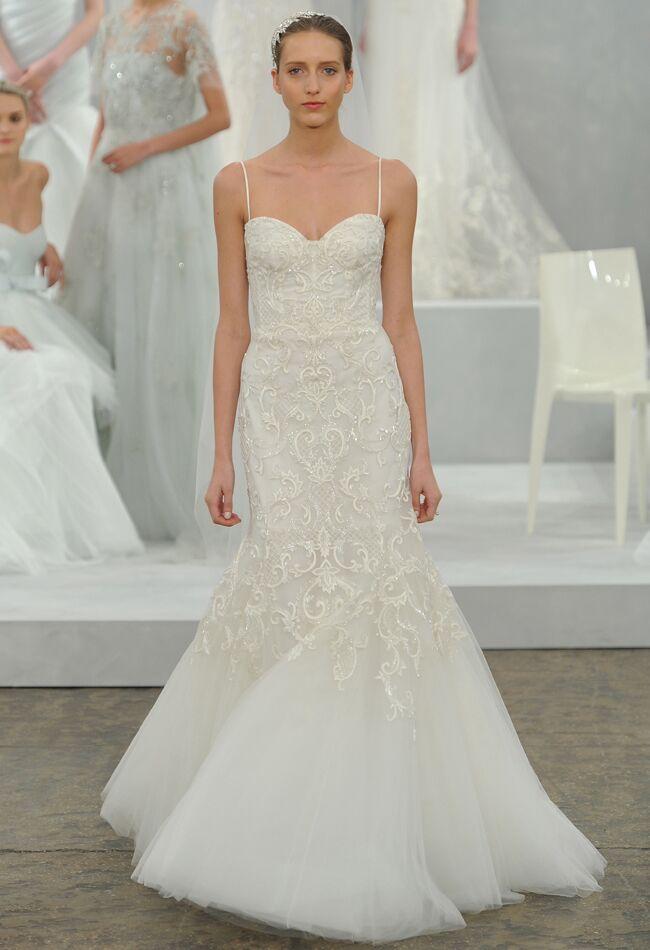 5 gowns inspired by behati prinsloos blush wedding dress wedding dress by monique lhuillier junglespirit Gallery