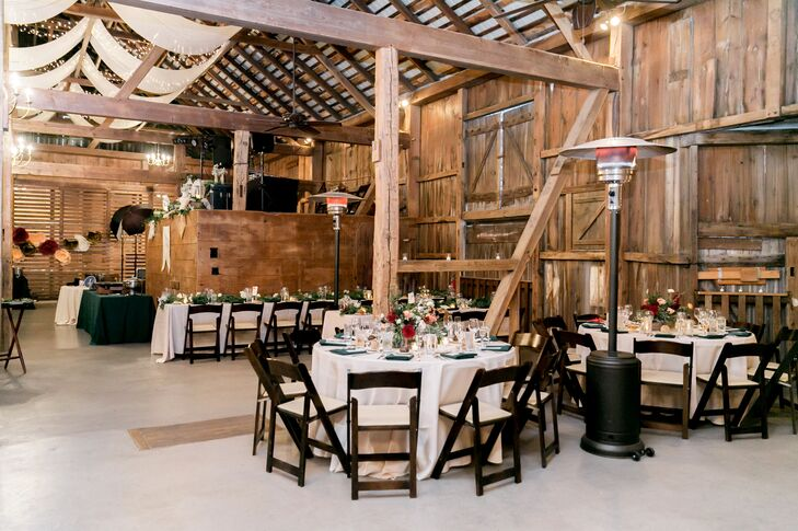 Rustic Reception with Wooden Folding Chairs