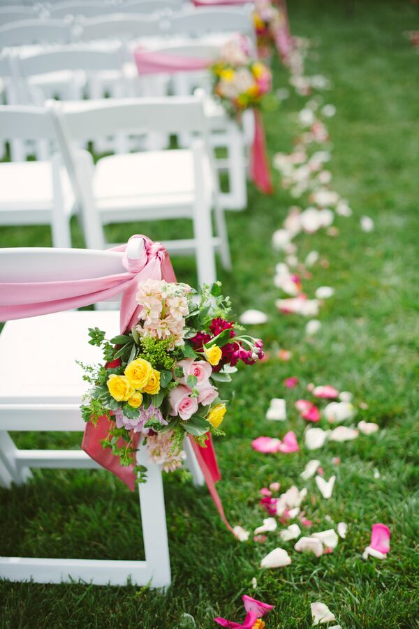 Colorful Flower Aisle Decoration