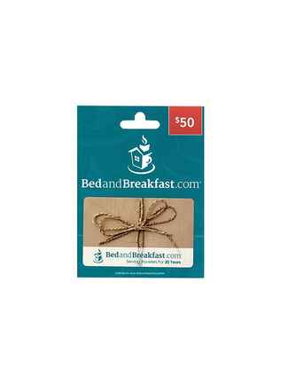 Bed and Breakfast Gift Card registry