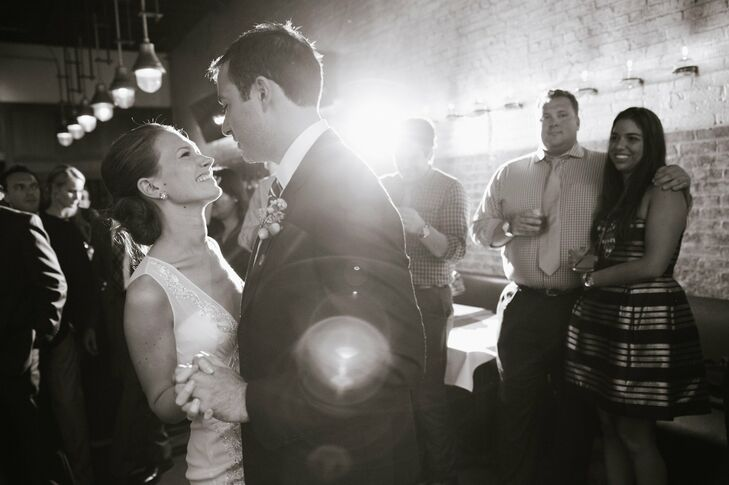 The couple hit the floor for their first dance as husband and wife.