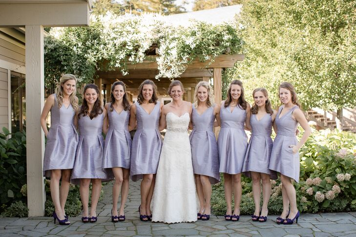 Real Bridesmaids In Our Stunning And Elegant Bridesmaid: A Simple And Elegant Wedding At The Jolly Pumpkin In
