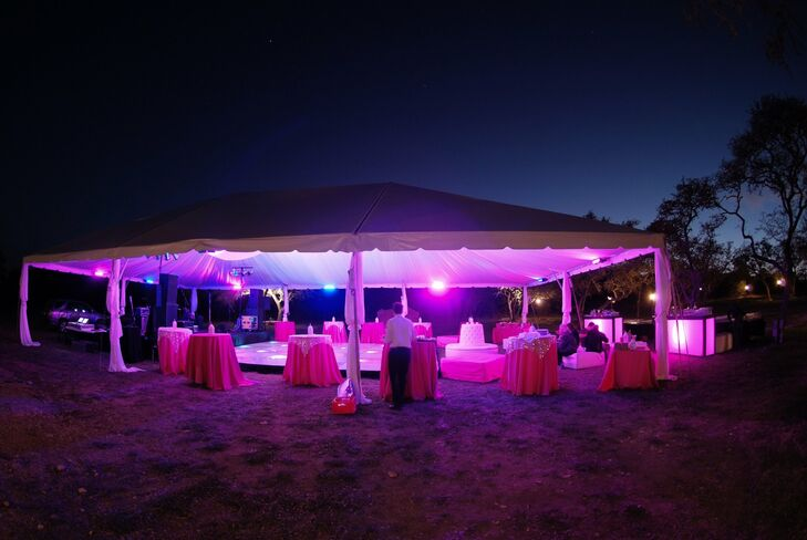 Tented Outdoor Dance Floor