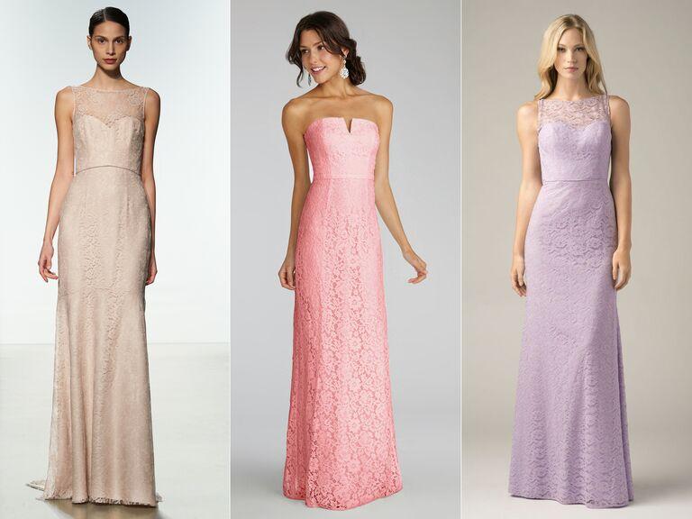 cotton lace long bridesmaid dresses