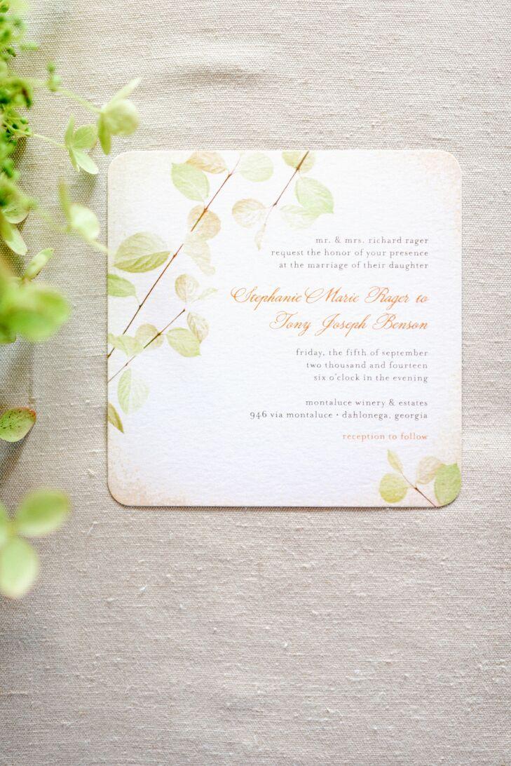 Elegant Autumnal Wedding Invitations