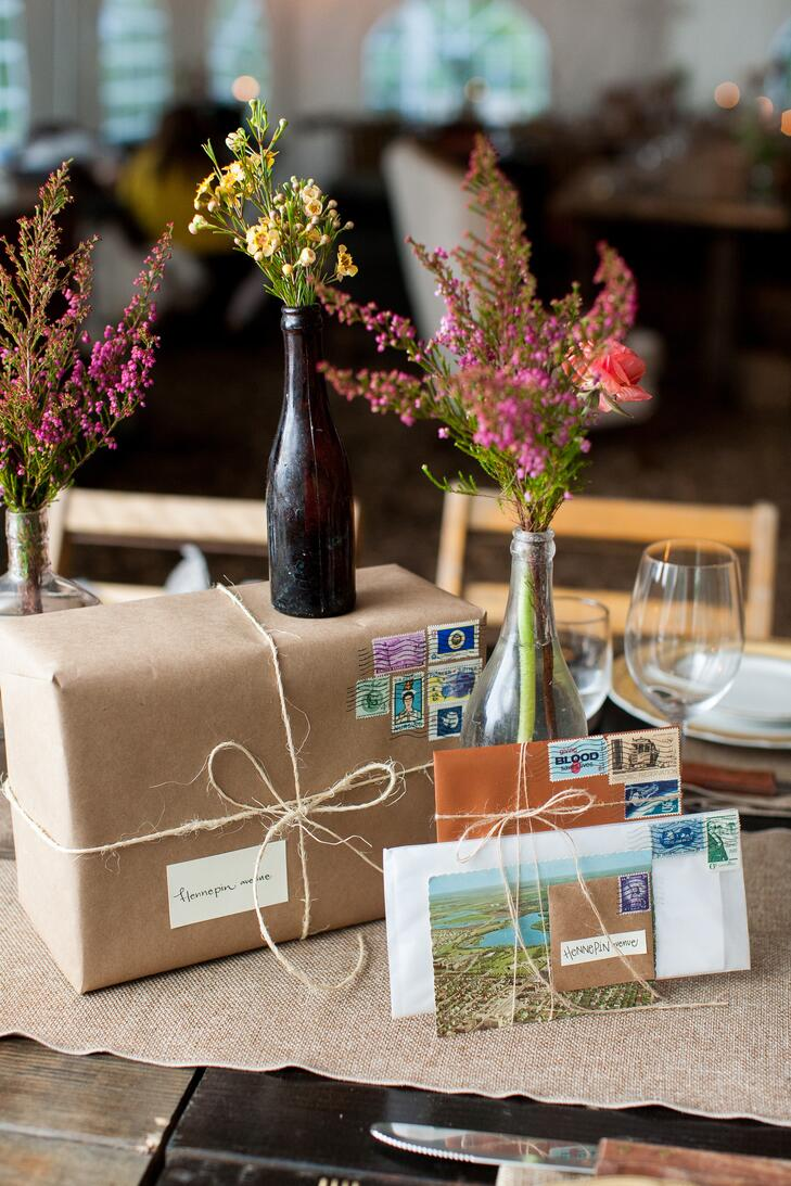 Vintage inspired rustic snail mail wedding ideas