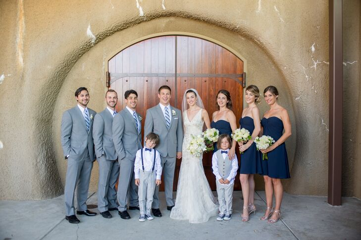 Navy Blue and Gray Wedding Party