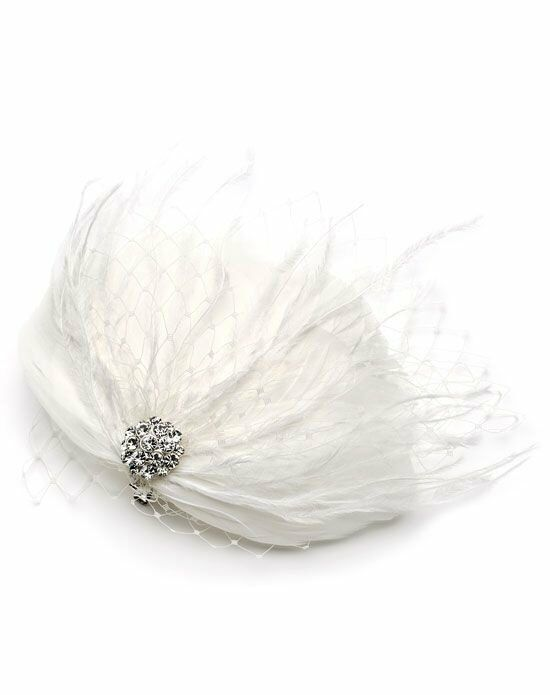 USABride Josephine Feather Clip Wedding Accessory photo