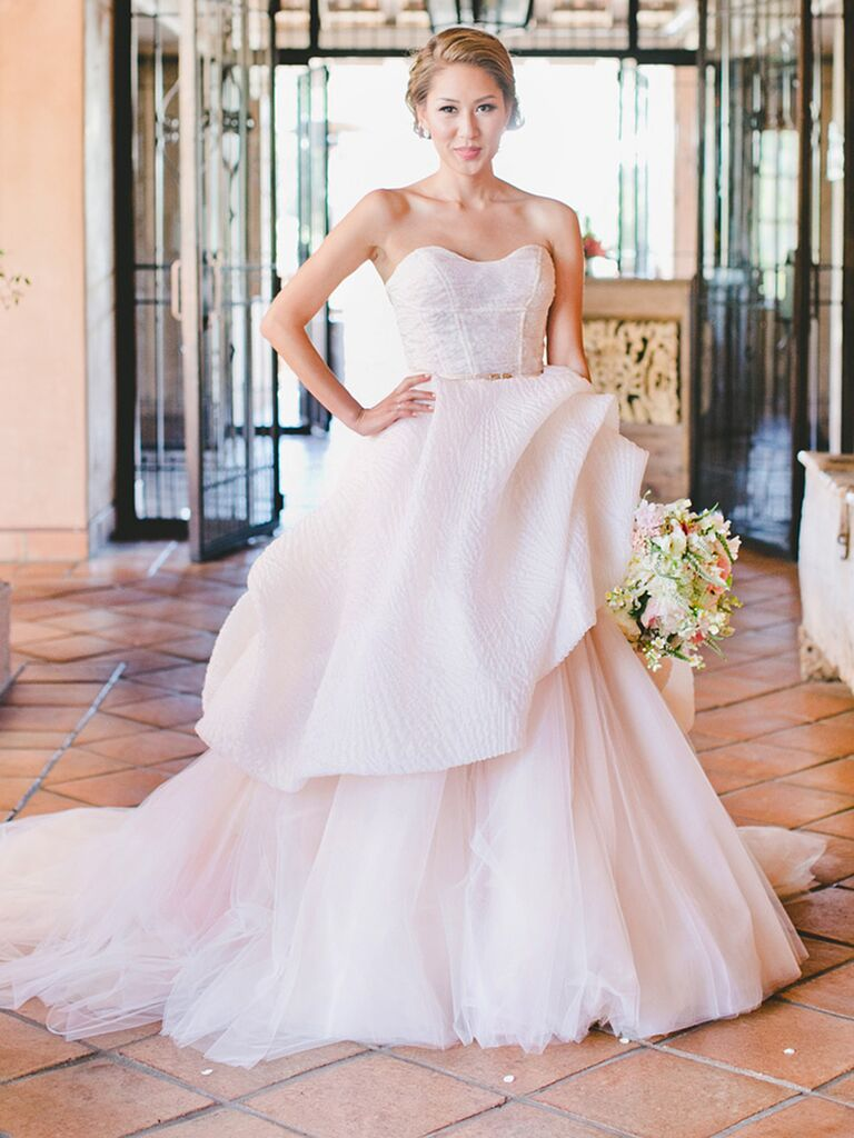 The prettiest blush and light pink wedding gowns blush pink wedding gown by lazaro junglespirit