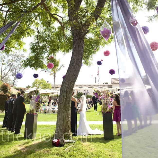Wedding Ceremony Tree Decor