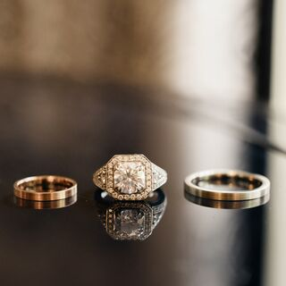 Real Modern Wedding Rings