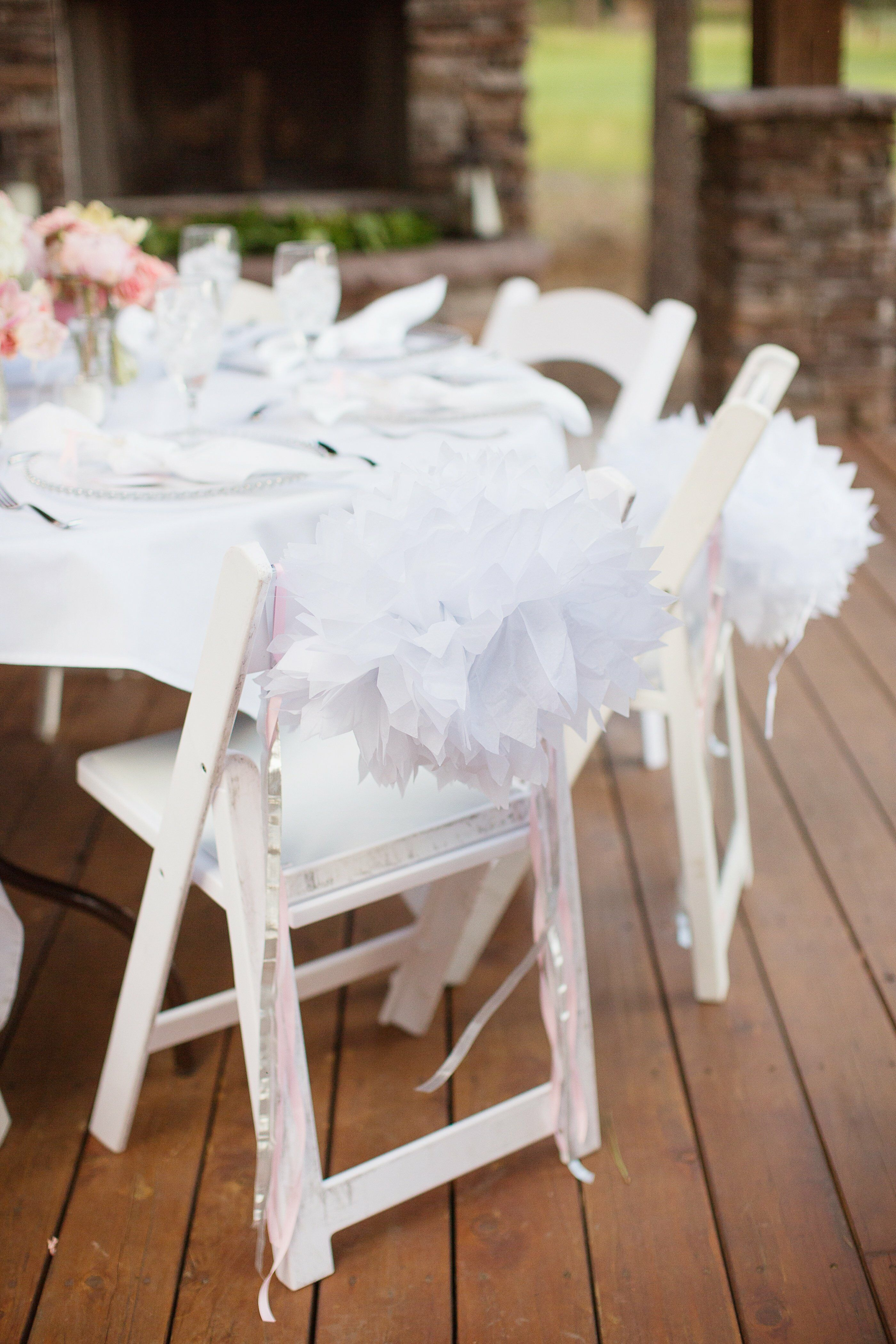 Paper Flower Chair Decorations