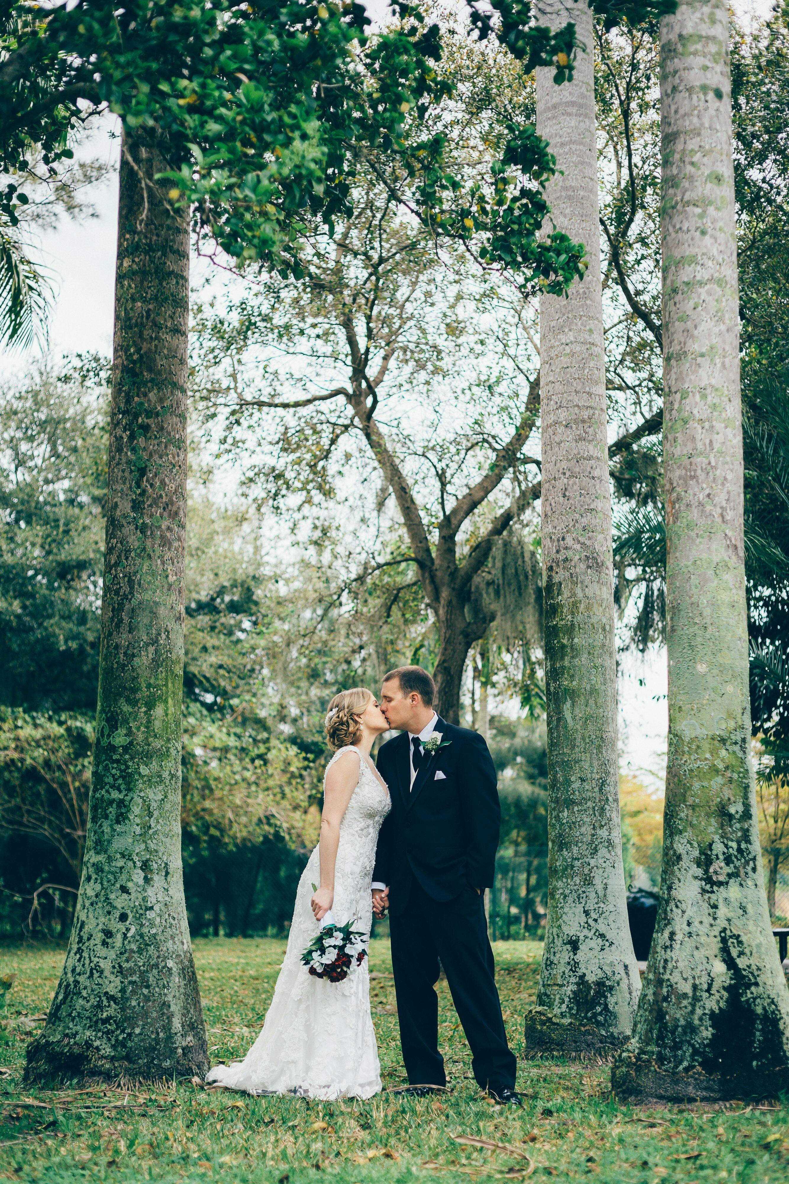 A Simple Garden Wedding At Palma Sola Botanical Park In