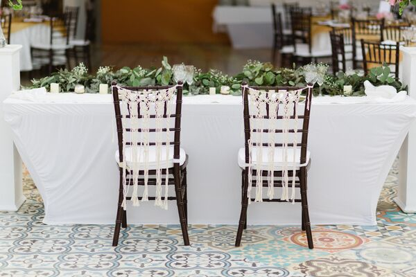 Woven Macramé Sweetheart Chair Decoration