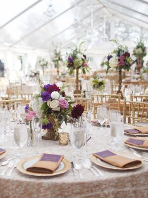 Fall weddings fall wedding trends 2012 real weddings - Purple and gold color scheme ...