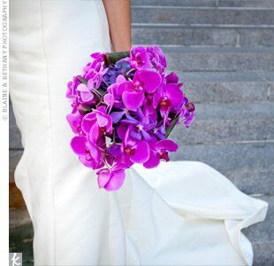 Purple Orchid Wedding Bouquets