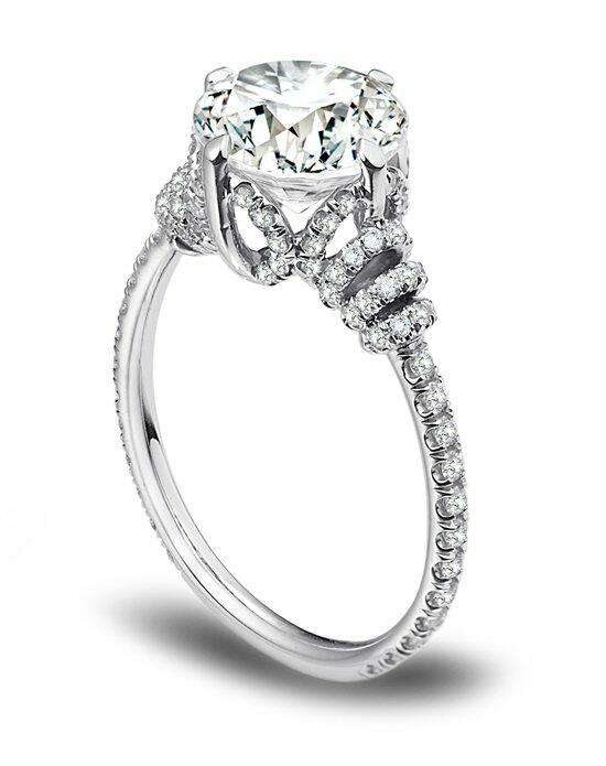 Platinum Must Haves Danhov Platinum and Diamond Engagement Ring Engagement Ring photo