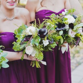Calla lily rose calla lily and fern bridesmaid bouquets junglespirit Images