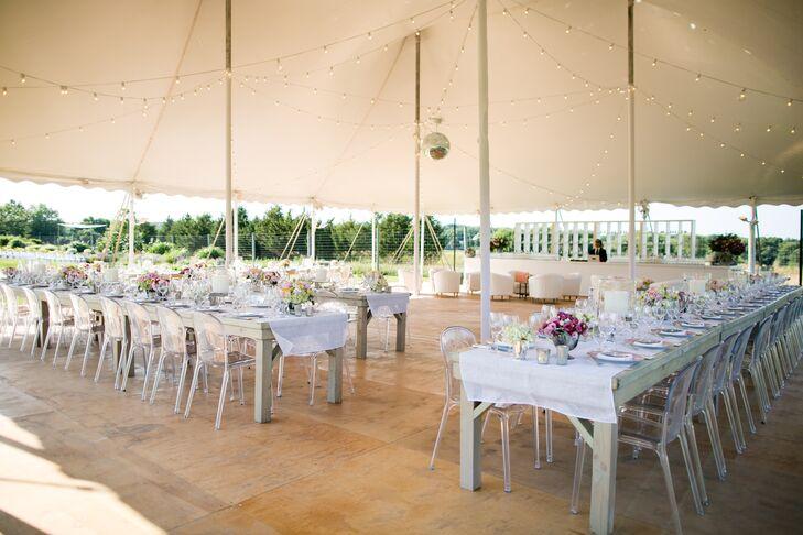 Backyard Tented Wedding Reception