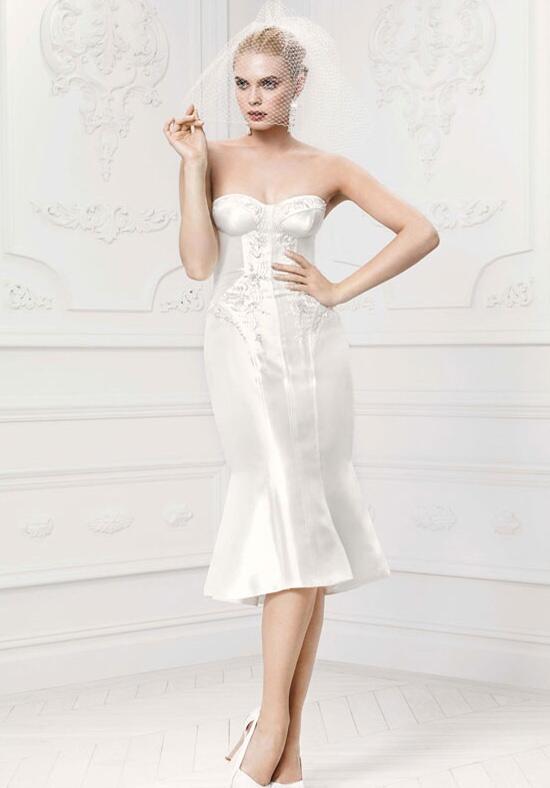 Truly zac posen at david 39 s bridal zp341407 wedding dress for Zac posen short wedding dress