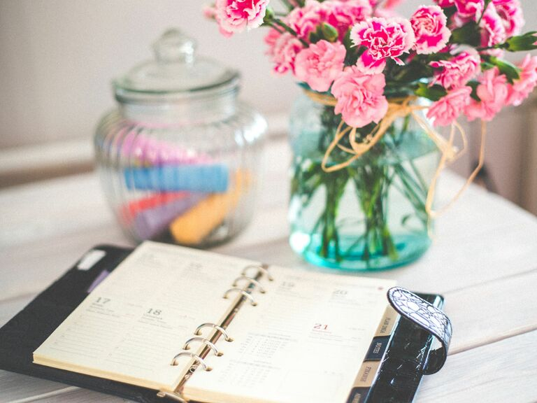 Wedding planning and budgeting notebook