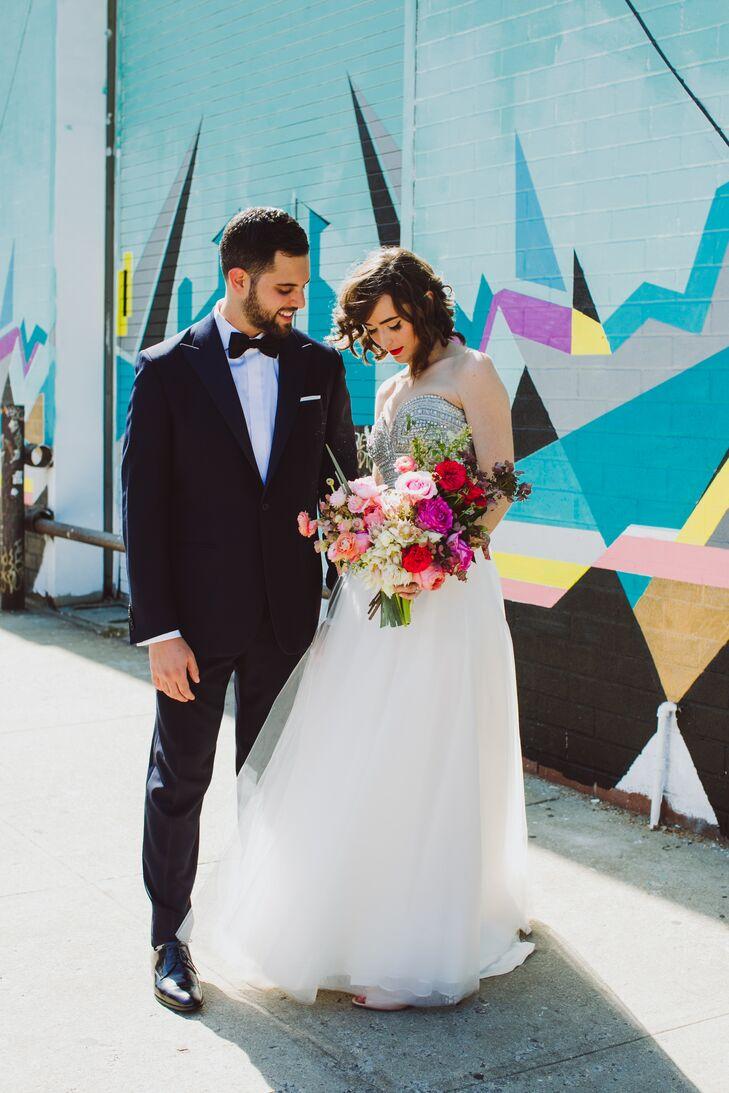Modern loft wedding at the foundry in long island city new york