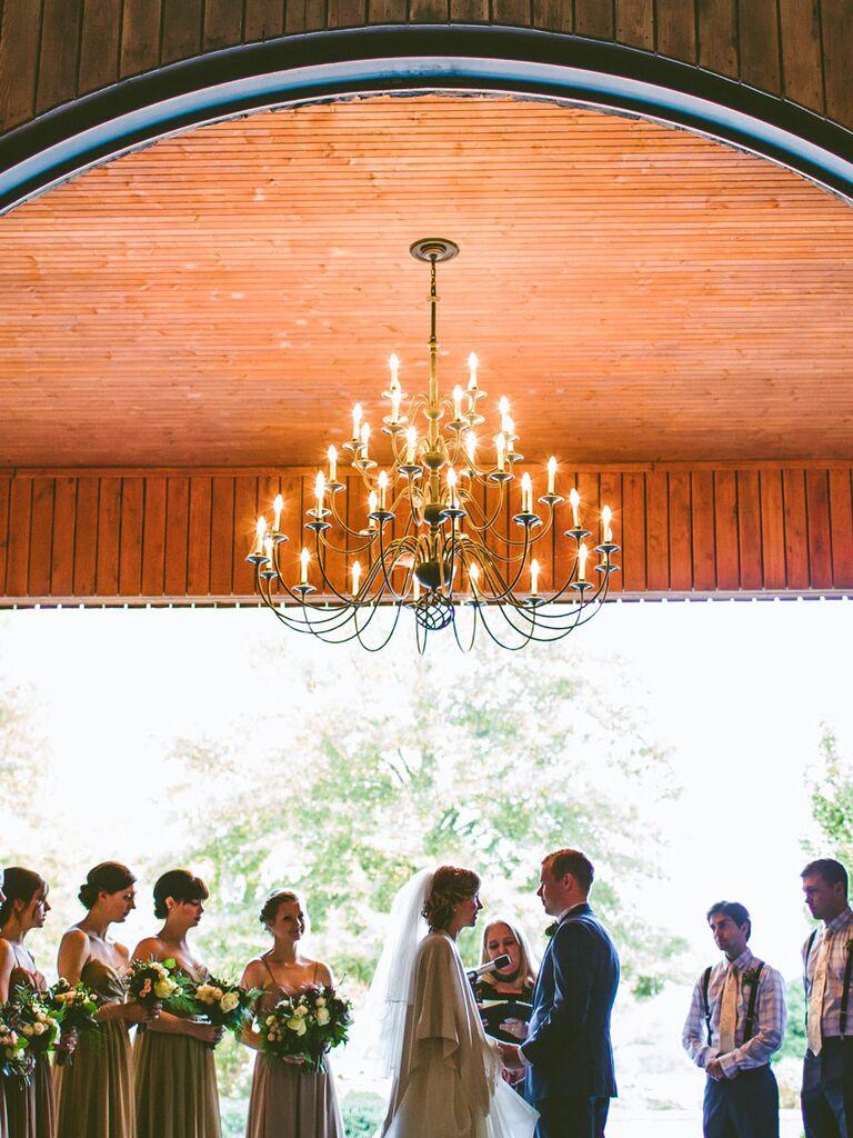 Backyard ceremony arch