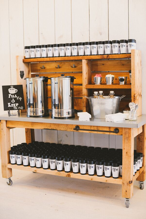 Coffee Bar and Personalized Travel Mugs