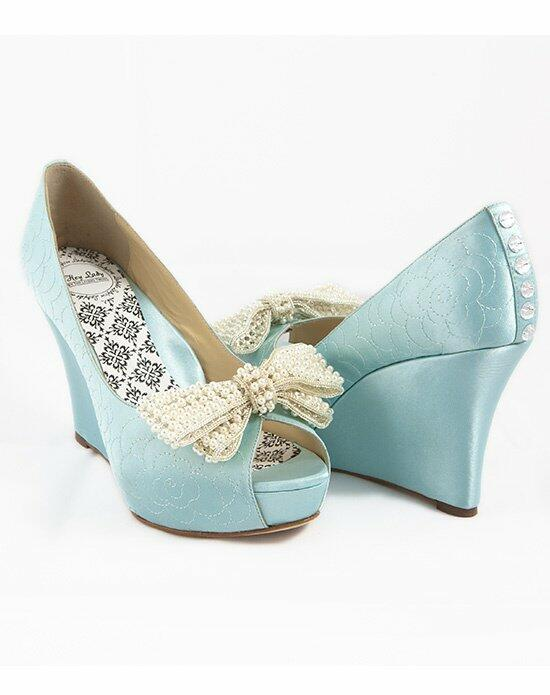 Hey Lady Shoes Lady Buttons garden wedge w/big pearl bow Wedding Shoes photo
