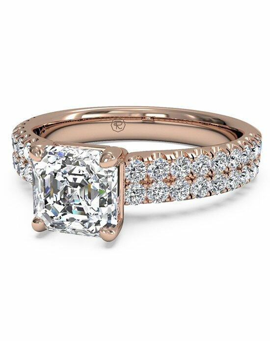 Ritani Asscher Cut Double French-Set Band Engagement Ring in 18kt Rose Gold (0.59 CTW) Engagement Ring photo