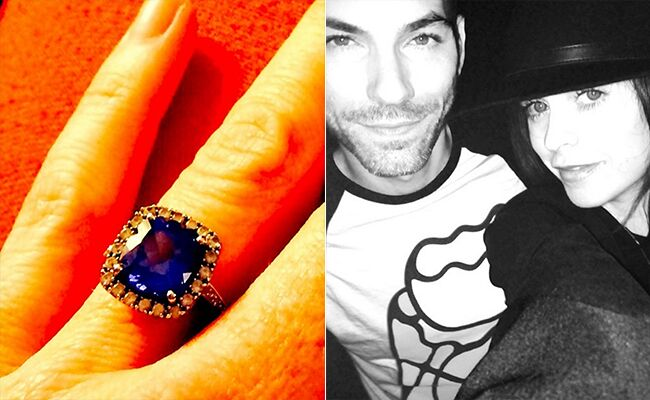 Taryn Manning Engagement Ring: Taryn Manning / TheKnot.com