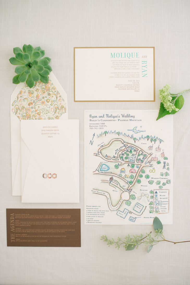 White and Brown Vintage Wedding Invitations