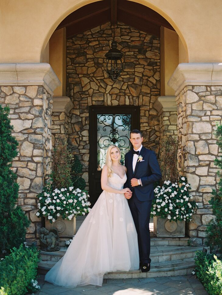 "Cassidy and Cutter chose the Villa Sancti Di Bella Vista in Malibu, California, for its versatility and beauty. ""Cutter and I grew up in Malibu and wanted our wedding to feel comfortable and peaceful for our guests,"" Cassidy says. ""We wanted views of the ocean with an elevated  backyard feel."""
