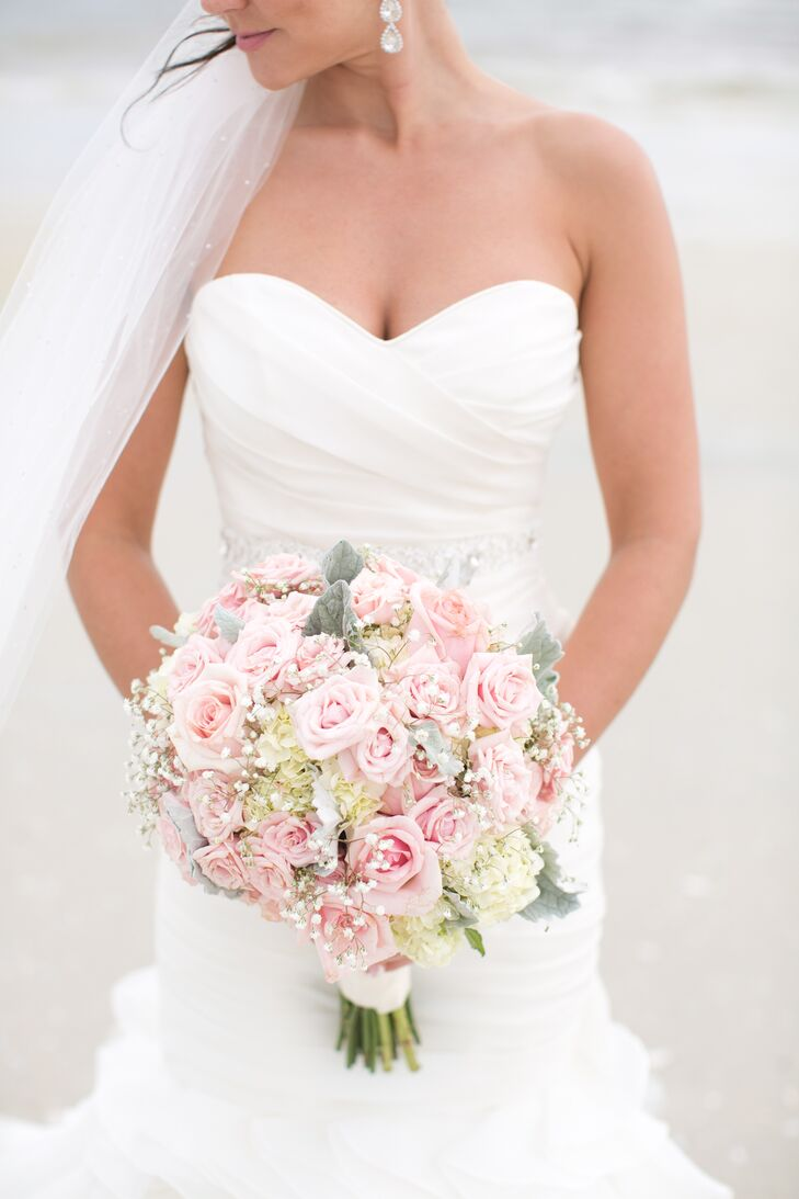 Rose Hydrangea And Baby S Breath Bridal Bouquet