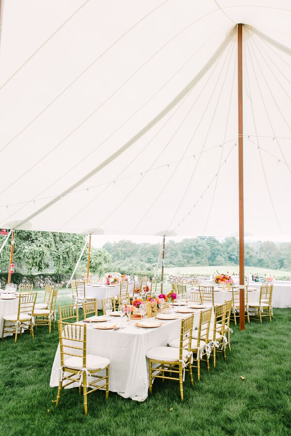Sail Cloth Tent Reception