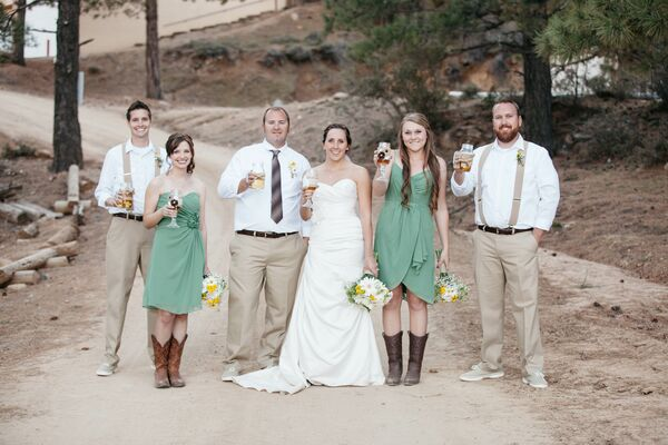 Yellow And White Wildflower Bridal-Party Bouquets