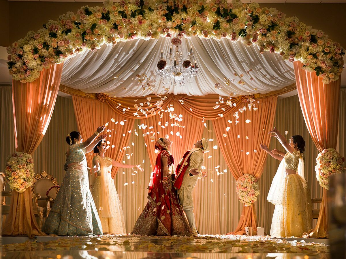 indian decoration weddings themes ceremony trends india hindu theme decor venue things expect attending hall decorations marriage bride groom guest